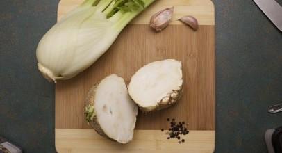 Knolselderij koken